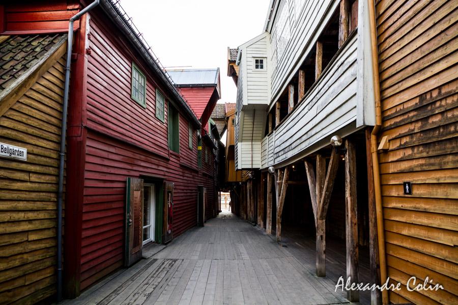 Passage étroit à Bryggen